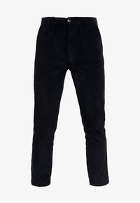 Knowledge Cotton Apparel - BOB WALES CROPPED CORDUROY  GOTS - Trousers - total eclipse - 3