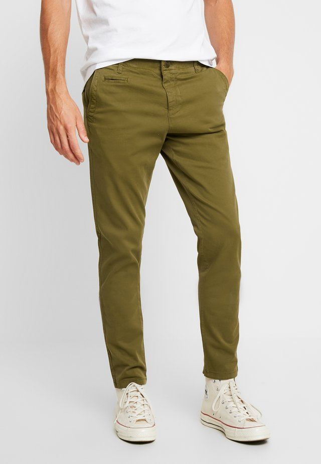 JOE STRETCHED  - Stoffhose - burned olive