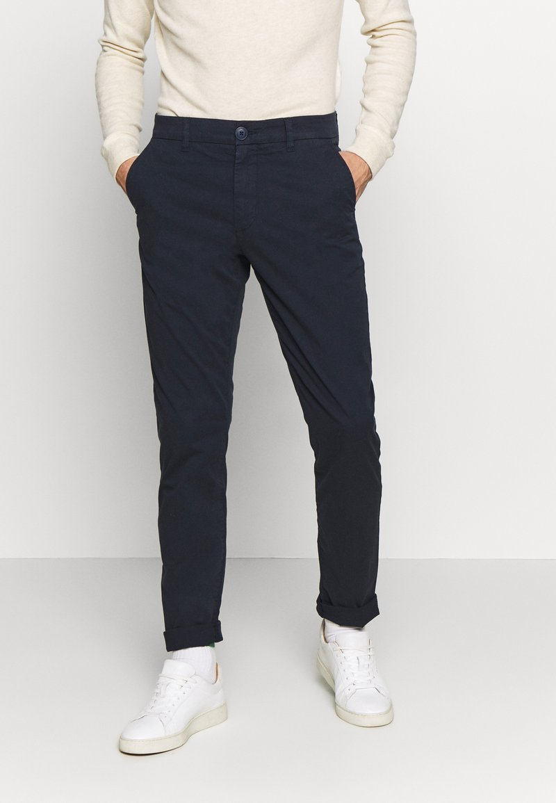Knowledge Cotton Apparel - CHUCK LOOSE CHINO - Chinot - total eclipse