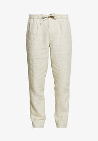 Knowledge Cotton Apparel - BIRCH LOOSE HEAVY PANT - Kalhoty - light feather gray - 4