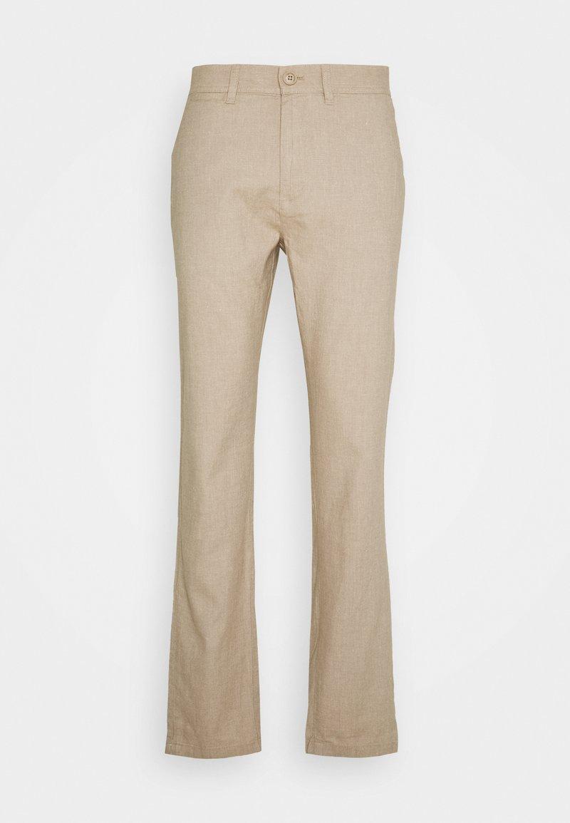 Knowledge Cotton Apparel - CHUCK REGULAR PANT - Broek - beige