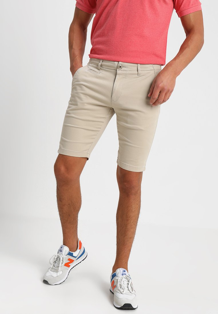 Knowledge Cotton Apparel - STRETCH - Shorts - light feather gray