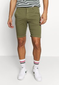 Knowledge Cotton Apparel - Shortsit - burned olive - 0