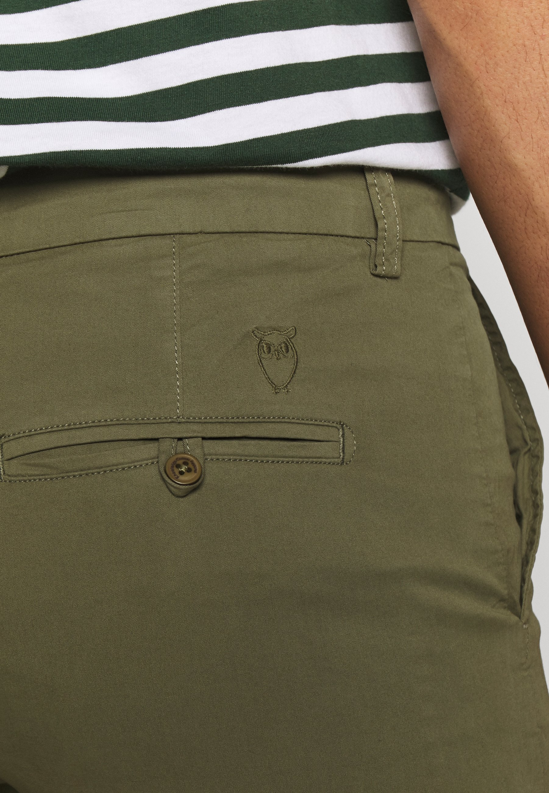 Knowledge Cotton Apparel Shorts - burned olive