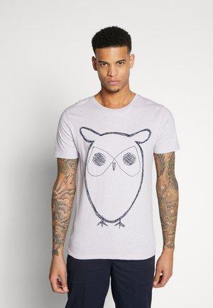 ALDER BIG OWL TEE - T-shirt con stampa - lavender melange