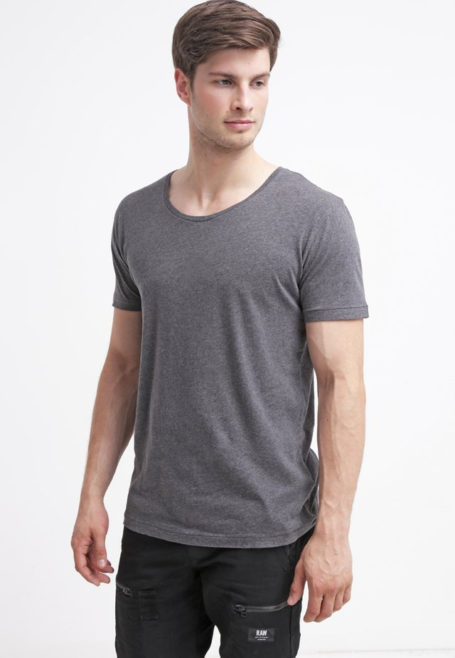 BASIC FIT O-NECK - T-shirt - bas - grey