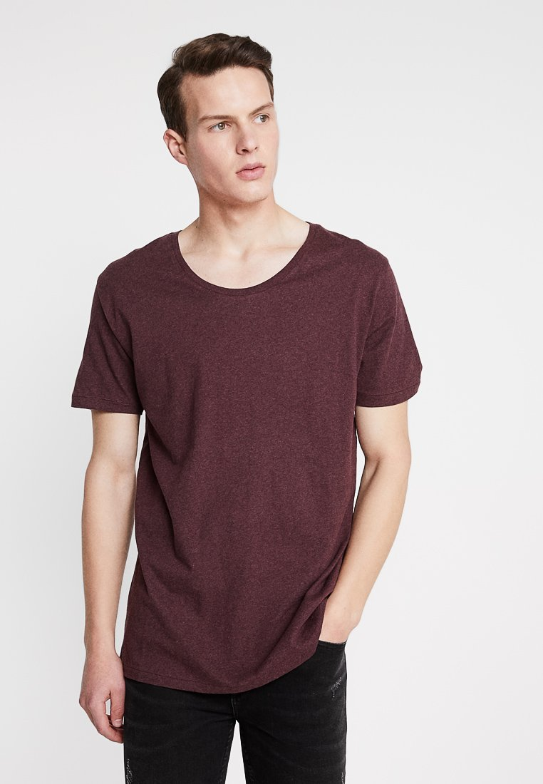 Knowledge Cotton Apparel - BASIC FIT O-NECK - T-Shirt basic - decadent choklade melange