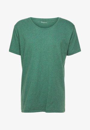 LOOSE FIT O-NECK - Basic T-shirt - black forrest melange