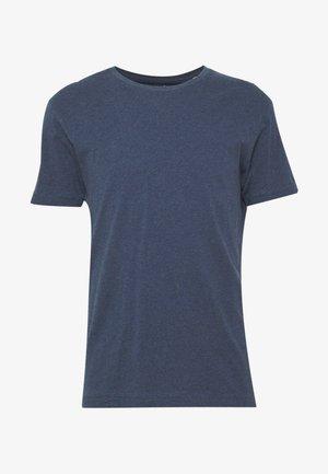 BASIC REGULAR FIT O-NECK TEE - Basic T-shirt - insigna blue melange