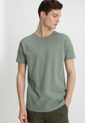 BASIC REGULAR FIT O-NECK TEE - T-paita - gren melange