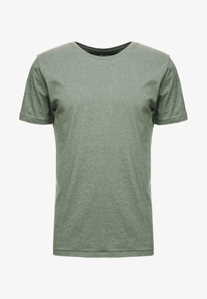 BASIC REGULAR FIT O-NECK TEE - Basic T-shirt - gren melange