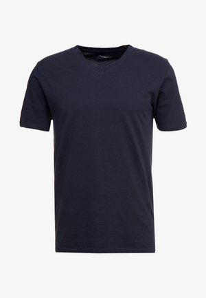 BASIC REGULAR FIT V-NECK TEE - Basic T-shirt - total eclipse