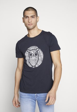 ALDER WAVE OWL TEE - Print T-shirt - total eclipse