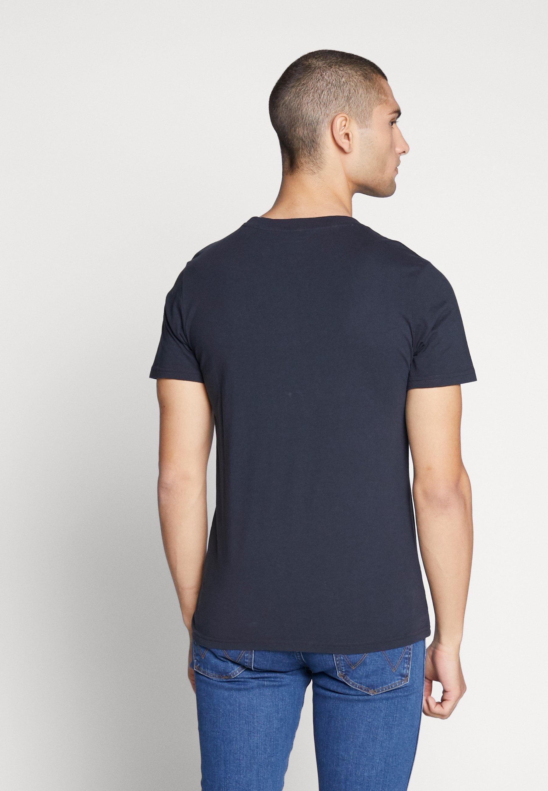 Knowledge Cotton Apparel ALDER OWL TEE - T-shirt z nadrukiem - total eclipse