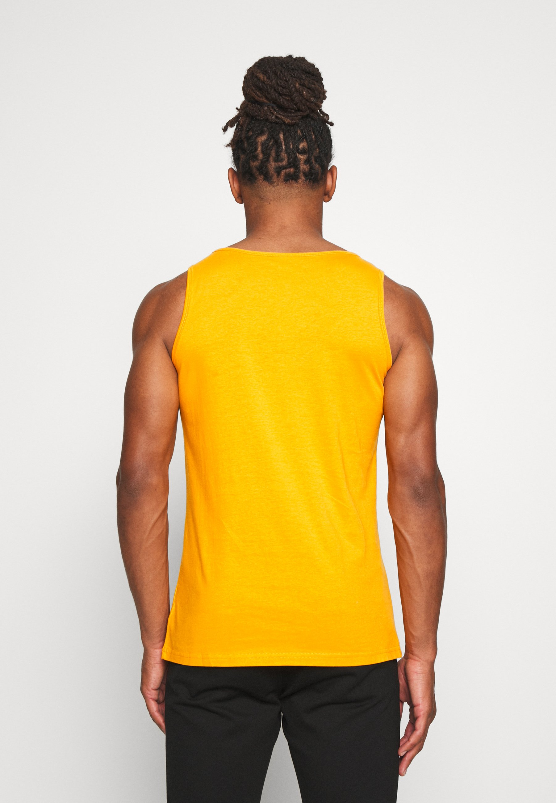 Knowledge Cotton Apparel Palm Owl Chest Tank - Top Yellow