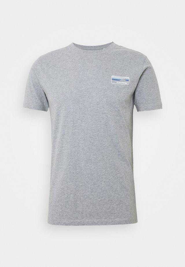 ALDER KNOWLEDE TEE - T-shirt basic - mottled grey