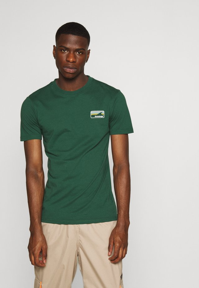 ALDER KNOWLEDE TEE - Basic T-shirt - green