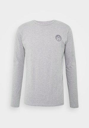 LOCUST BADGE LONG SLEEVE - Pitkähihainen paita - mottled grey