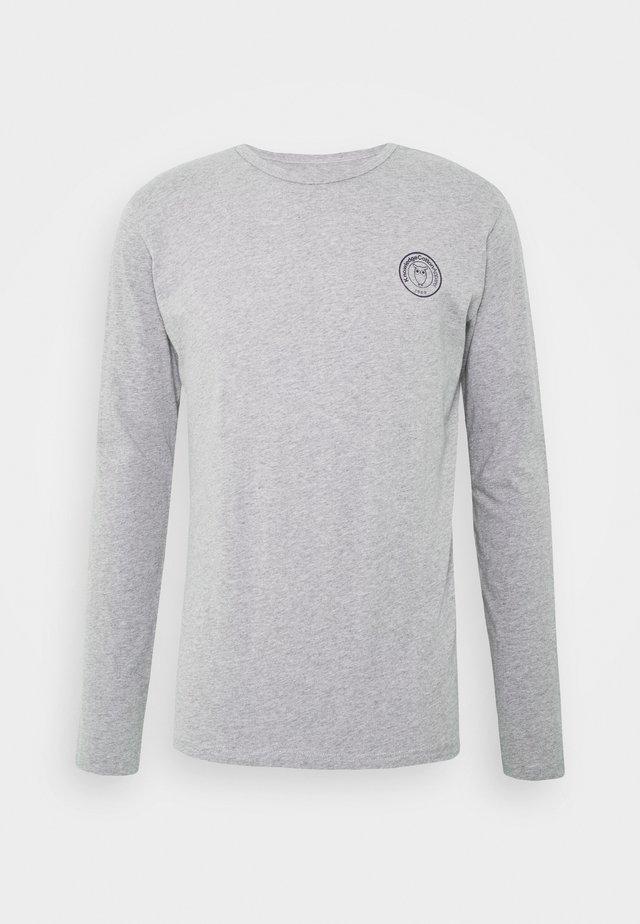 LOCUST BADGE LONG SLEEVE - Long sleeved top - mottled grey
