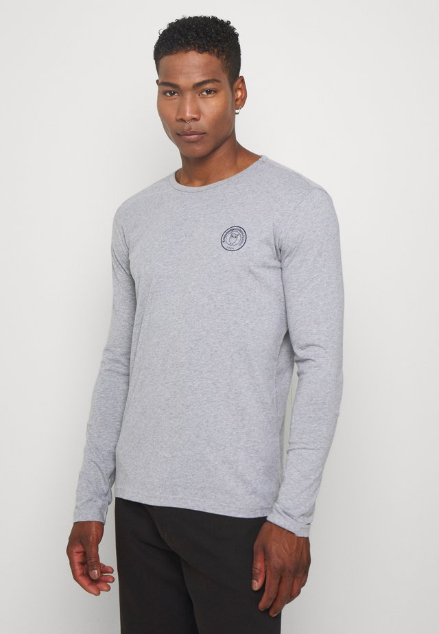 LOCUST BADGE LONG SLEEVE - Bluzka z długim rękawem - mottled grey
