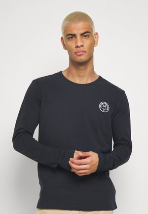 LOCUST BADGE LONG SLEEVE - Langærmede T-shirts - dark blue