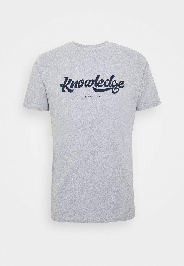 ALDER BIG TEE - Print T-shirt - mottled grey