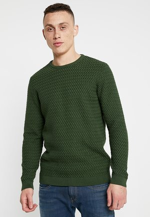 SMALL DIAMOND - Strickpullover - green forest