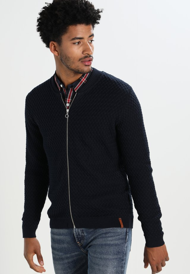SMALL DIAMOND CARDIGAN - Kofta - dark blue