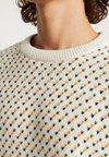 Knowledge Cotton Apparel - O-NECK - Strickpullover - winter white