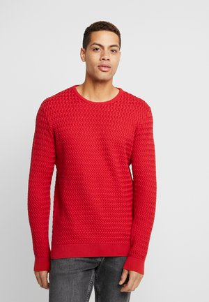 ONECK STRUCTURED - Neule - pompeain red