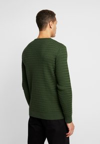 Knowledge Cotton Apparel - ONECK STRUCTURED - Neule - green forest - 2