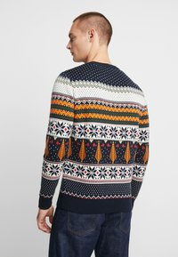 Knowledge Cotton Apparel - ONECK XMAS - Jumper - total eclipse - 2