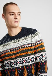 Knowledge Cotton Apparel - ONECK XMAS - Jumper - total eclipse - 4