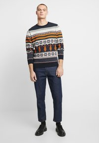Knowledge Cotton Apparel - ONECK XMAS - Jumper - total eclipse - 1