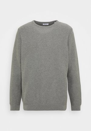 FIELD CREW NECK - Neule - mottled grey