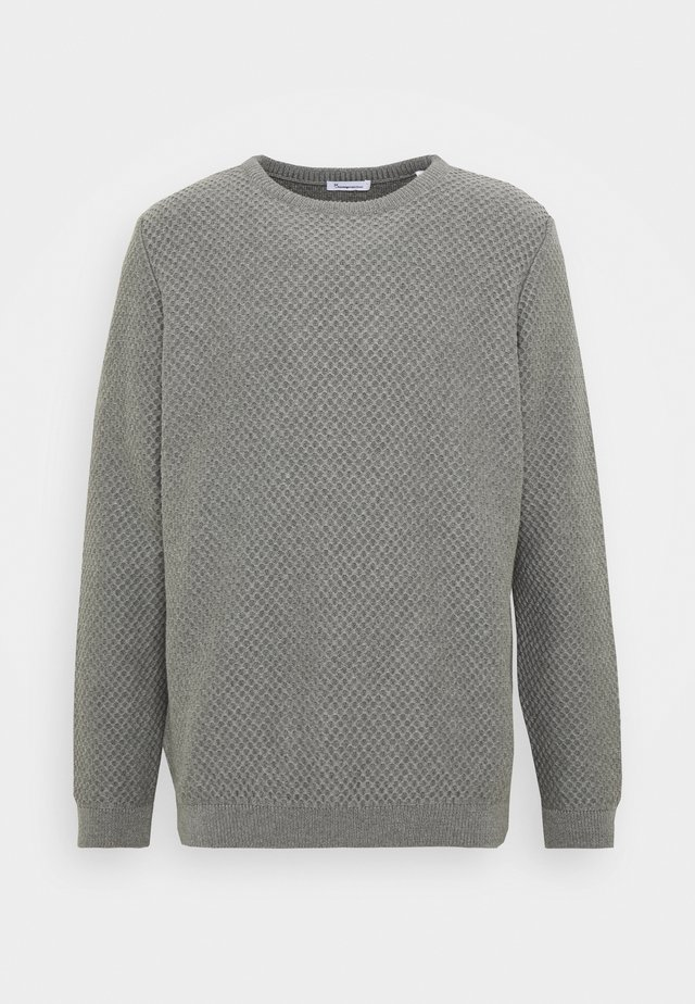 FIELD CREW NECK - Stickad tröja - mottled grey
