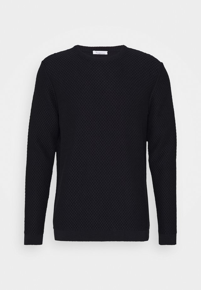 FIELD CREW NECK - Stickad tröja - dark blue