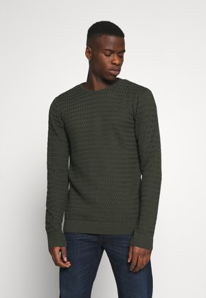 FIELD ONECK STRUCTURED  - Maglione - forrest night