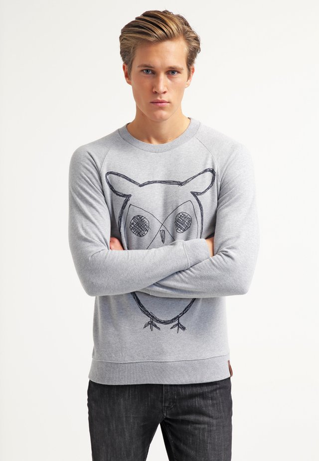 BIG OWL - Collegepaita - grey melange