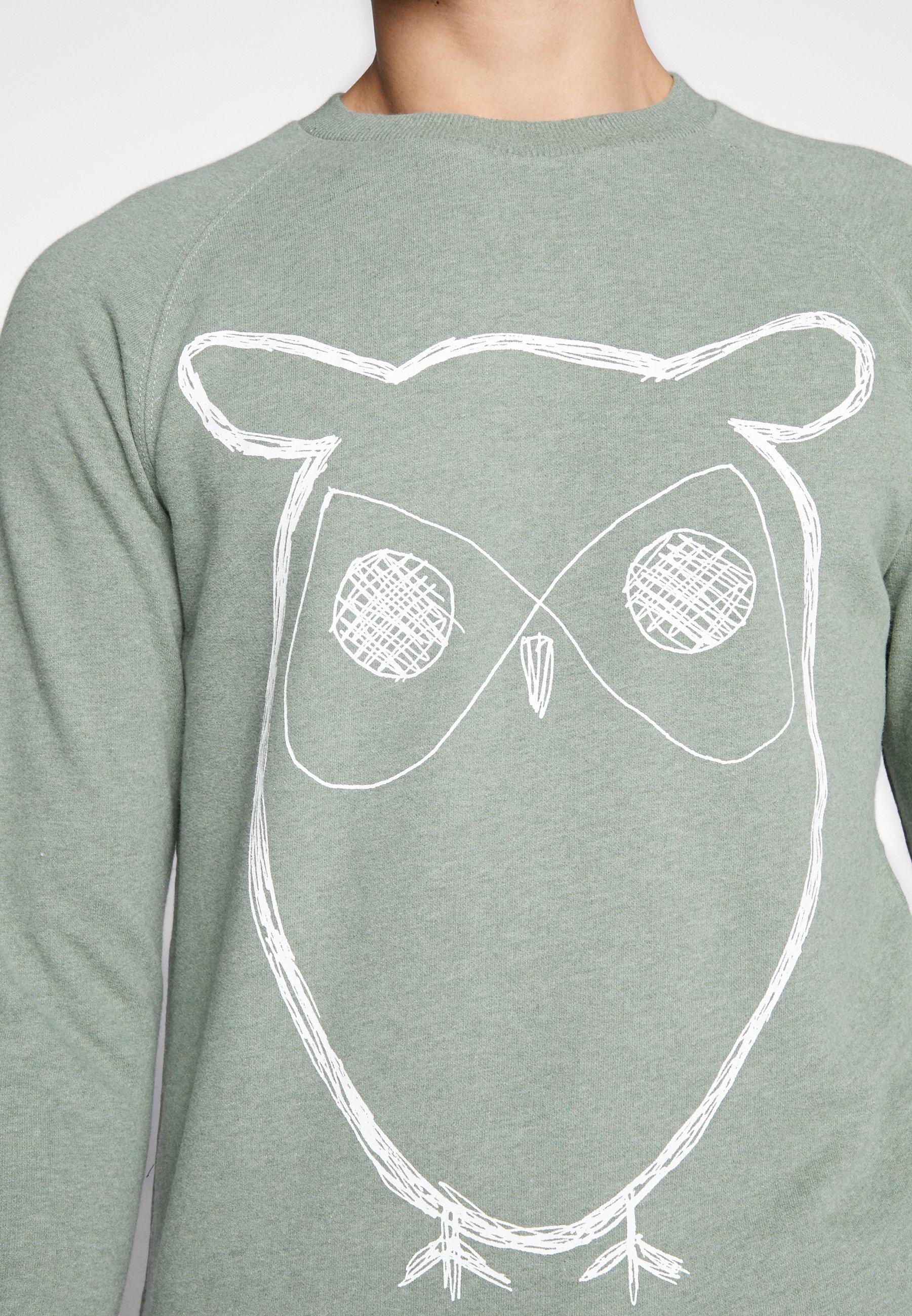 Knowledge Cotton Apparel BIG OWL - Bluza - gren melange