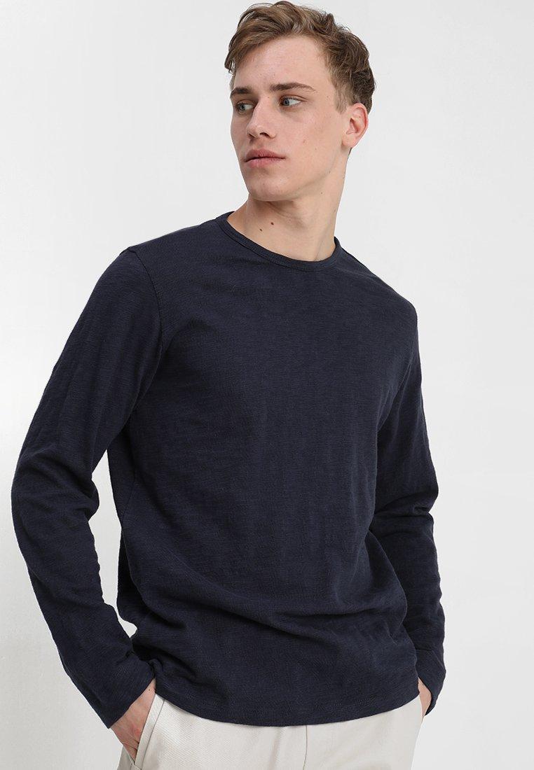 Knowledge Cotton Apparel - L/S SLOPE  - Langærmede T-shirts - total eclipse