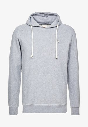 HOOD KANGAROO WITH OWL BADGE - Huppari - grey melange