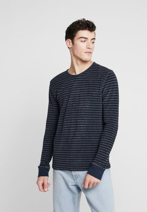 STRIPED VEGAN - Collegepaita - dark grey melange