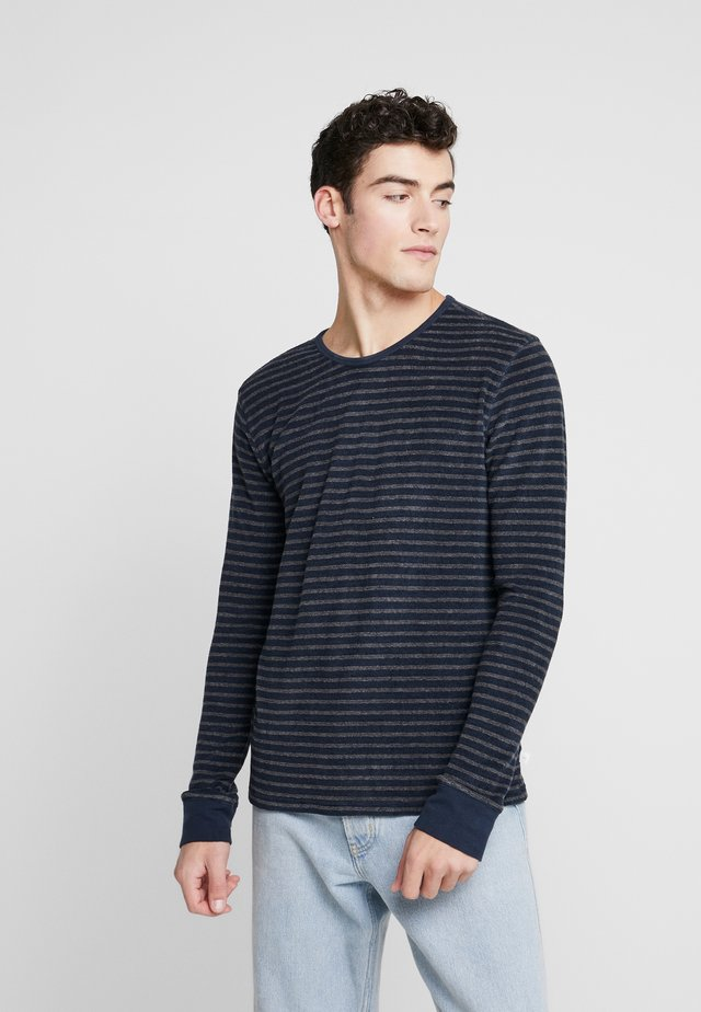 STRIPED VEGAN - Sweatshirt - dark grey melange