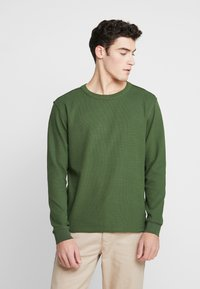 Knowledge Cotton Apparel - RIBBING  - Mikina - green forest - 0