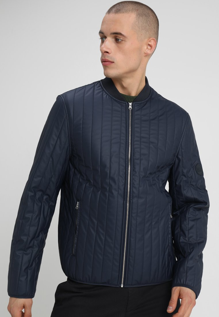 Knowledge Cotton Apparel - RAIN WORKER JACKET - Giacca a vento - total eclipse