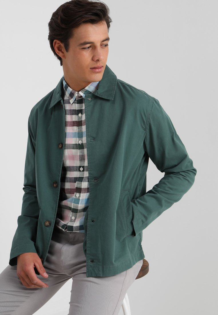 Knowledge Cotton Apparel - STRETCHED OVERSHIRT - Summer jacket - bistro green