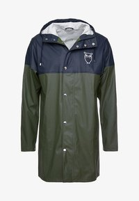 Knowledge Cotton Apparel - LONG RAIN JACKET - Vodotěsná bunda - black forrest melange - 4