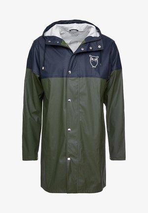 LONG RAIN JACKET - Vodotěsná bunda - black forrest melange