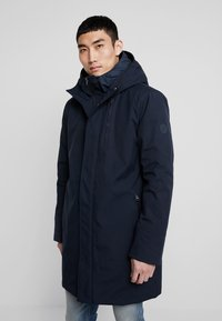 Knowledge Cotton Apparel - LONG SOFT SHELL JACKET  - Winter coat - total eclipse - 0